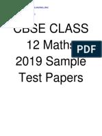 CBSE Class 12 Maths 2019 Sample Test Paper  sgtestpaper.com/learn_cbse/
