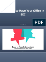 3 Reasons to Have Your Office in BKC