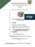 Informe de Instalacion Del Sistem Operativo Bsd