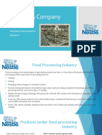 Industry Analysis Nestle