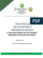 Training Design SPED
