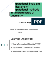 Lecture No. 1_Computational Chemistry Tools & Application of Computational Methods