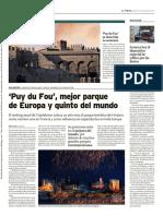 'Puy du Fou', mejor parque de Europa y quinto del mundo