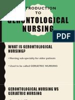Introduction to Gerontological Nursing