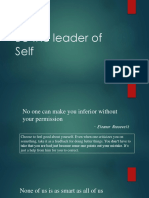 Be the Leader of Self