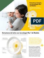 Medela Extractores de Leche Con Tecnologia Flex Folleto