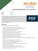 Aruba Switching Fundamentals Rev 16-41-01077931