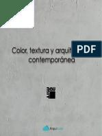 Color Textura y Arquitectura Contemporanea