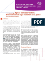 Protecting Migrant Domestic Workers- The International Legal Framework at a Glance