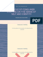 The Role of Consumer Culture on the Sense of Self and Identity