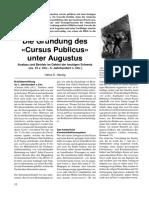 Die Gründung des «Cursus Publicus» unter Augustus