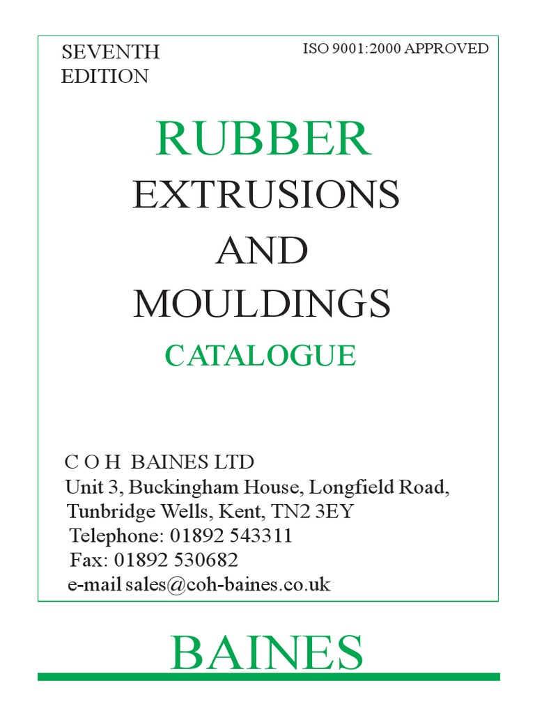 Rubber Extrusions Catalogue Materials Plastic