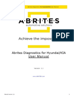Abrites Diagnostics for Hyundai KIA User Manual2018
