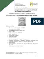 CASTAGNETTO Da ROSA, Héctor Ficha 2018