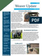 Weaver Newsletter August 2019