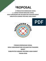 PROPOSAL Forum Keserasian Sosial