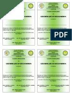 Sample School Presscon Certificate