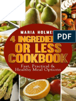 4 Ingredients or Less Cookbook