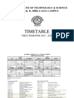 Time Table Semester I 2019-20-29 July 19