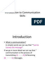 Intro to Communication Skills