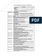 Rundown of Indonesian Textile Conference