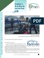 Supérieur général de la Famille Vincentienne - SVP fête 2019