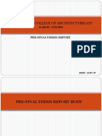 Deliverables for Pre-final Thesis Report