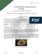 Sensor Based Accident Prevention System in Curving Ijariie10101
