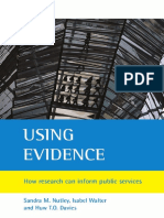 Sandra M. Nutley, Isabel Walter, Huw T. O. Davies - Using Evidence_ How Research Can Inform Public Services (2007)