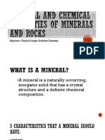 Physical and Chemical Properties of Minerals and Rocks