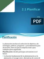 2.1 Planificar