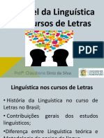 Papel da linguística no curso de Letras