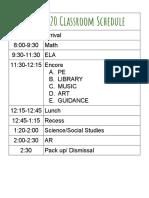 2019-2020 classroom schedule  1
