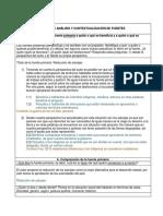 Tabla de Análisis y Contextualización de Fuentes