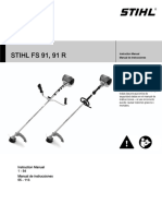 STIHL FS 91 91 R Owners Instruction Manual