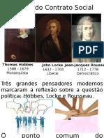 As Teorias Contratualistas - Hobbes, Locke e Rousseau (1)