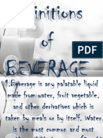 Types of Beverages