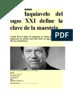 El Maquiavelo Del Siglo XXI Define La Clave de La Maestría_NO SOY MALVADO