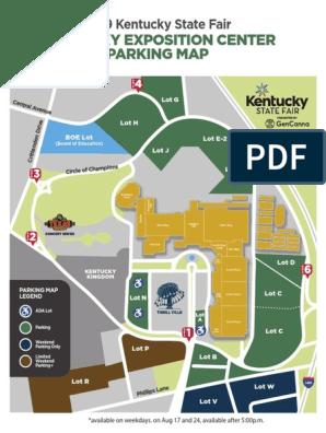 Kentucky State Fair Parking Map | Fairs