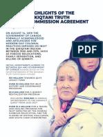 Qikiqtani Truth Commission Agreement