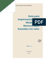 Guia para Implementação de Modelos de Remuneração baseados em valor