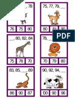 Tarjetas de Secuencias Numéricas