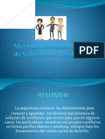Mecanismos Alternativos de Resolución de Conflictos - MASC - Programa