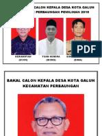 Foto 3 Bakal Calon Kepala Desa Kota Galuh