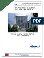Atexco VEGA 3180DT Digital Textile Printer