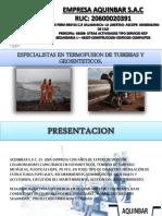 Brochure Empresa Aquinbar Sac