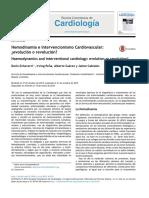 Hemodinamia e intervencionismo cardiovascular