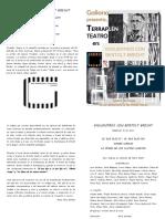 Programa de Mano Encuentros Con Bertolt Brecht 19 Diciembre 2018