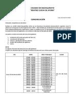 Horario Juntas Supletorio 1ro y 2do 2018 - 2019