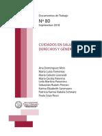 CUIDADOS EN SALUD, DERECHOS Y GÉNERO